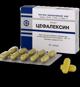 Цефалексин применяют при тяжелой форме заболевания.