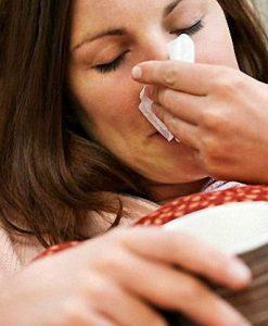 Насморк - как реакция на аллерген.