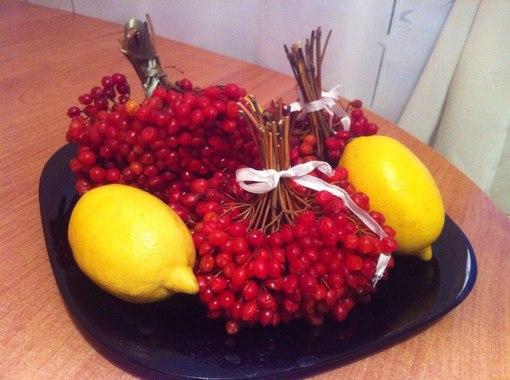 Калина и лимон очень полезны.
