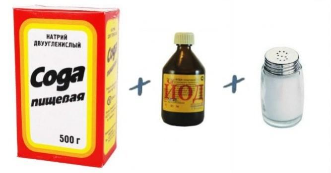При ангине можно проводить полоскания раствором соды, соли и йода.